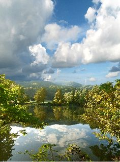 Clouds in Sky & Water: Black Mountain, NC