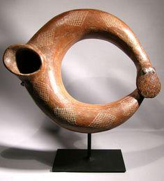 Colima Snake — Rare Colima serpent vessel