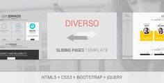 Buy Diverso - Bootstrap Wordpress Sliding Pages by AngeloM on ThemeForest. Overview Diverso is a Wordpress Responsive Sliding Pages template built with Bootstrap. Customizable Features On. Wordpress Template, Resume Templates, Wordpress Theme, Html Website Templates, Template Site, Design Presentation, Google Web Font, Really Cool Stuff, Colorful Backgrounds