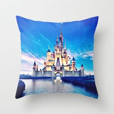 Disney Magic Castle Throw Pillow by Courtney Marie - $20.00