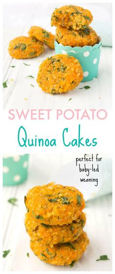 Recipes Quinoa Looking for a fun and healthy side or snack? These Sweet Potato Quinoa Cakes are a delicious way to pack in lots of nutrients and are incredibly easy to make! Make up a batch in advance for a quick ready-made option throughout the week! Toddler Meals, Kids Meals, Toddler Food, Quinoa Sweet Potato, Sweet Potato Cakes, Baby Sweet Potato Recipe, Sweet Potato Toddler Recipes, Vegan Sweet Potato Recipes, Sweet Cakes