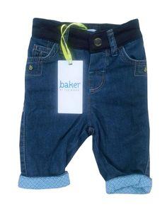 d03fd9de5187 Details about Te Baker Baby Boys Trousers Jeans Blue Designer Newborn Gift  0-3 Months
