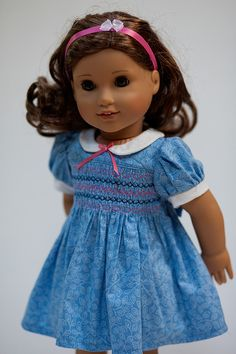 AG Doll Clothes. Smocked Dress. Fits American by OriginalsByGaby