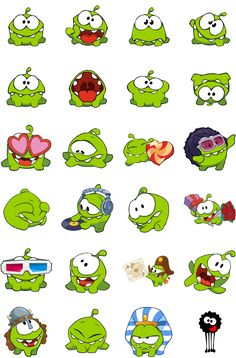 Cut the Rope Stickers Emoji Stickers, Tumblr Stickers, Free Stickers, Doodle Drawings, Cute Drawings, Doodle Art, Smileys, Cut The Ropes, Karten Diy