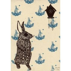 Ralph the Rabbit Greetings Card by Boodle Boutique for From the Wilde