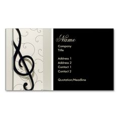 Music teacher music notes elegant business card teacher business music musical notes black and white business cards colourmoves