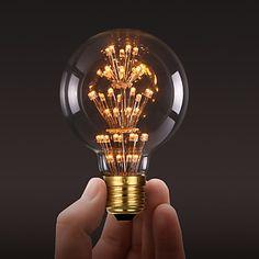 ecolight® Ecolite tm E27 3W LED lamp 3700K warm wit loft retro-industrie stijl bol edison lamp (AC220 ~ 265V - EUR € 9.79