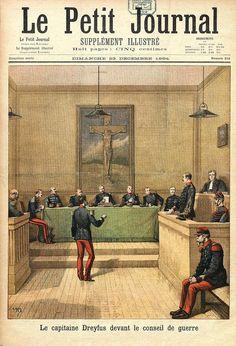 Le capitaine Dreyfus devant le conseil de guerre  (Une du Petit Journal du 23 décembre 1894) Dessin de Henri Meyer