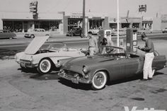 """At the end of the test,  MT Editor Walt Woron put a '56 Vette and a T-bird  called the Thunderbird """"pretty much what Ford claims it is—a 'personal car,' suitable for the bachelor, for the young or 'young at heart' couple, or for the husband or wife as a second car."""" The Corvette, he said, """"is less of a personal car and closer to being, or easily becoming, a sports car."""" Read more: http://www.superchevy.com/features/vemp-1110-1956-corvette-test/#ixzz33mb17MXd"""