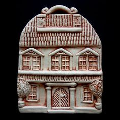 "Дом \ ""с балконом \"" Ceramic Houses, Sculpture Art, Tower, Building, Cottages, Houses, Balcony, Rook, Cabins"