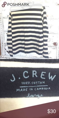 J. Crew men's cotton long sleeve tee Nice and soft, classic J. Crew Shirts Tees - Long Sleeve