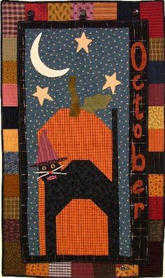 halloween quilted postcards | Halloween/Fall