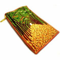 designer phone case purse- iPurse-beautiful handmade, beaded, embroider and hand painted  on silk, leather purses from iPurse®