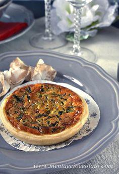 MENU' DI NATALE: l'Antipasto - Mini Quiche con Broccolo Fiolaro e Lardo di Colonnata -