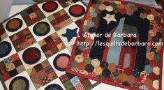 Mini quilts série 6 Création l'atelier de Barbara