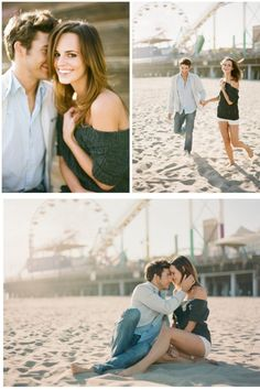 LOVE this e-session...this couple is so cute frolicking on the beach!