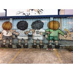 Sao Paolo street art soccer