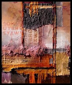 "Daily Painters Abstract Gallery: Abstract Mixed Media Art Painting ""Headlines"" by Colorado Mixed Media Abstract Artist Carol Nelson"