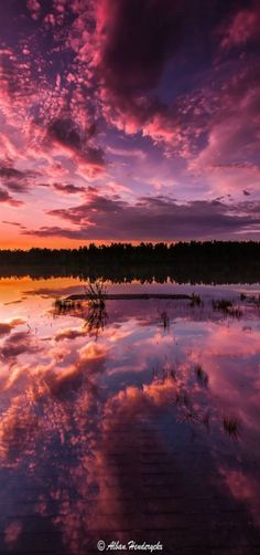 'Flood of clouds' Sunset - by Alban Henderyckx
