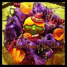 Halloween wreaths! Available  @A Shop Around the Corner, New Braunfels, TX!