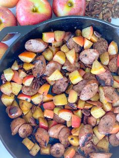 Apple and Chicken Sausage Skillet – The Delicious Antidote Sausage Rice, Chicken Apple Sausage, Sausage Breakfast, Paleo Breakfast, Free Breakfast, Whole 30 Recipes, Apple Recipes, Mexican Food Recipes, Dinner Recipes