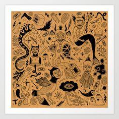 Curious Collection No. 1 Art Print by Jon MacNair - $18.00