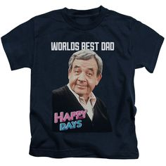 """Checkout our #LicensedGear products FREE SHIPPING + 10% OFF Coupon Code """"Official"""" Happy Days / Best Dad-short Sleeve Juvenile 18 / 1(4) - Happy Days / Best Dad-short Sleeve Juvenile 18 / 1(4) - Price: $24.99. Buy now at https://officiallylicensedgear.com/happy-days-best-dad-short-sleeve-juvenile-18-1-4"""