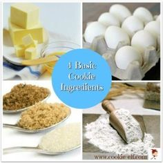 Understand the four basic cookie ingredients in cookie dough and additional ingredients that make each cookie recipe unique. Cookie Bars, Cookie Dough, Basic Cookies, One Smart Cookie, Cookies Ingredients, Desert Recipes, Kitchen Hacks, Christmas Cookies, Cookie Recipes