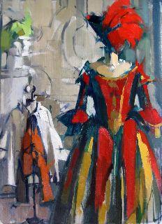 'famiglia' by American painter & sculptor Maggie Siner. Oil on linen, 14 x 19 in. via glavé kocen gallery