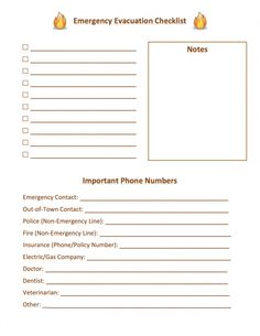 Emergency Evacuation Checklist #list #checklist #emergency