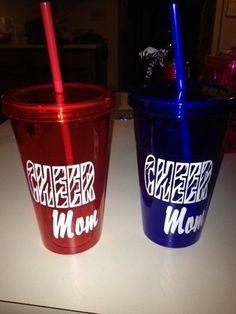 CHEER Mom vinyl decal for DYI gift cup window Cheerleader Sister Nana zebra print