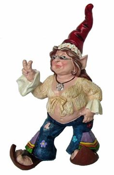 Hippie Chick Gnome - Click to enlarge