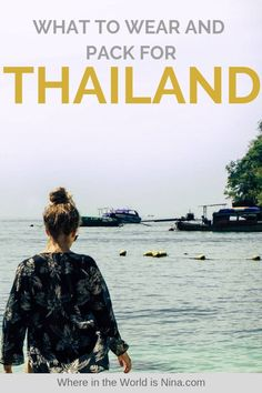 Packing for Thailand is easy! Check this post out to learn about what to pack for Thailand and what NOT to pack. Plus tips on what to wear in Thailand and not wear. Pin this to your Thailand travel board!  #Thailand #ThailandPackingList #ThailandTips