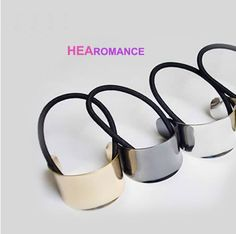 Apparel Accessories Fashion Women Simple V-shape High Polished Metal Hair Ties Gold Silver Geometric Arrow Rubber Bands Chic Hair Bands Headwear