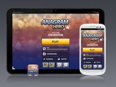 03.11.2013 | Mobile app design for Anagram Hero by *Elan #bokeh #sparkly #games