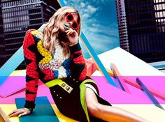 Model Jessiann Gravel embraces bold color and print in the latest issue of Canada's FASHION Magazine. Posing for Chris Nicholls, the blonde gets decked out in looks from the fall collections of Moschino, Versace and more top brands styled by Zeina Esmail. Against a city backdrop, Jessian pops even more so with lipstick in shades...[Read More]