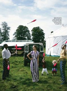 """The Terrier and Lobster: """"Roll Up"""": Julia Valimaki at the Circus by Hugh Stewart for Marie Claire Australia January 2013"""