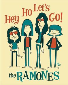 Discover recipes, home ideas, style inspiration and other ideas to try. Ramones, Rock Vintage, Hey Ho Lets Go, Arte Punk, Rock Band Posters, Post Punk, Concert Posters, Gig Poster, Sound Of Music