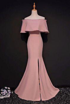 Elegant Trumpet Mermaid Off-the-shoulder Floor Length Pink Prom Dress With Slit Prom Dresses Long, Prom Dress, Prom Dresses Pink, Prom Dresses Lace, Prom Dresses Mermaid Prom Dresses 2020 Elegant Prom Dresses, Pink Prom Dresses, Mermaid Prom Dresses, Cheap Prom Dresses, Dress Prom, Dress Long, Homecoming Dresses, Lace Dress, Formal Dresses