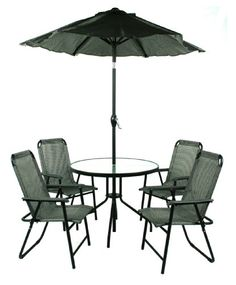 Jiaxing Hero Import and Export HJ-043-093-UM2M 6-Piece Table, Chair and Umbrella P $270.06