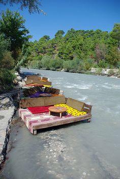 River Cafe | Antalya, Turkey many times we eat fish here.