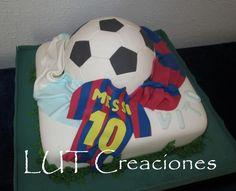 torta decorada futbol messi