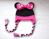 Bonnet Bébé Crochet Minnie Mouse : Mode Bébé par happysmiles