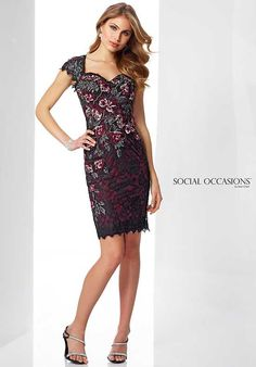 Social Occasions by Mon Cheri 217856 Black Mother Of The Bride Dress