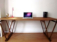 DESK: Nr. 1 - Beautiful Original Solid Beech Table - Double-V Original. €330.00, via Etsy.