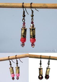 Jak moc zamienia się w piękno. Kolczyki z łusek, biżuteria militarna. Kolczyki / Earrings