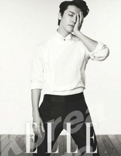 140613 Official, ELLE Magazine (July Issue) with Donghae [1P]