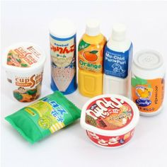 """Iwako erasers Japanese snacks 7 pieces set by Iwako. $7.47. by Iwako. Import from Japan. cute erasers with instant noodles, drinks and snacks. size of each eraser: 2.5-4.5cm (1""""-1.8""""). very good quality. cute erasers with instant noodles, drinks and snacks from Japan"""