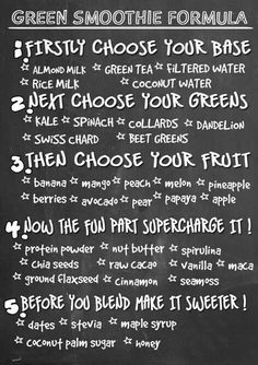 Healthy Smoothies...