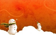 Wallpapers HD: Laughing Christmas Snowmen